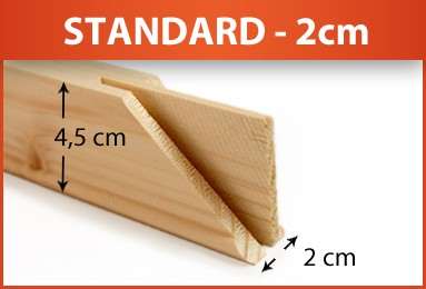 Keilrahmenleisten Bausatz - Keilverzinkt - FSC®-zertifizierter Holzkeilrahmen