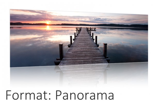 Ihr Foto als Poster Druck auf Fotopapier - Panorama Format Auswahl