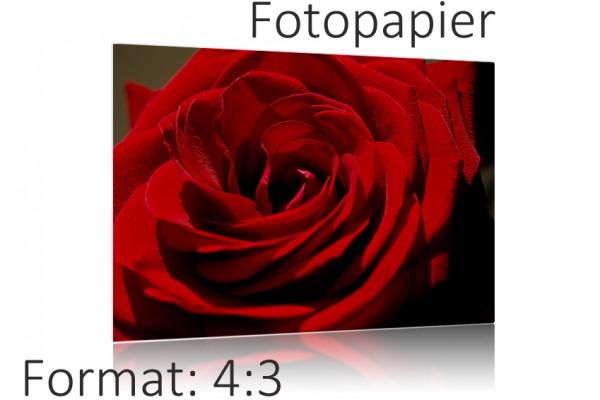 Ihr Foto als Poster Druck auf Fotopapier - 4:3 Format Auswahl